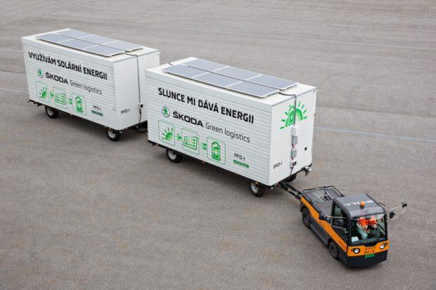 ŠKODA AUTO využívá elektricky poháněné tahače