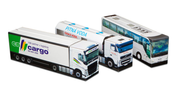 Dárkové krabice Truckbox: kamiony, dodávky i přepravní kontejnery