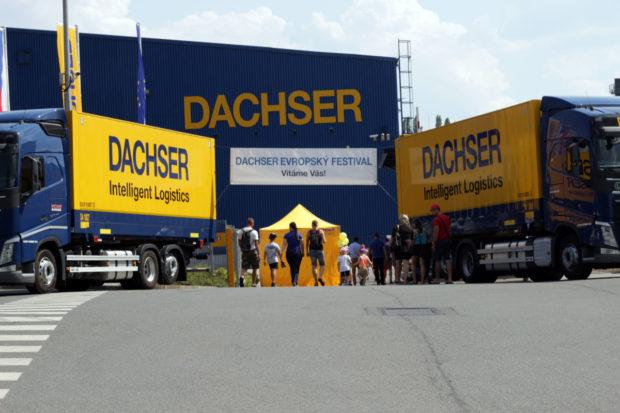 V kladenské pobočce DACHSER proběhl open air festival