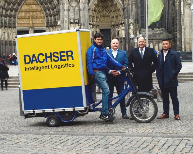 DACHSER doručuje zásilky pomocí nákladních elektrokol