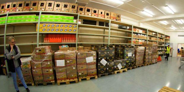 Potravinovou sbírku opět logisticky zajistil Raben