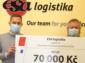 ESA logistika předala TruckHelpu šek na 70 000 Kč