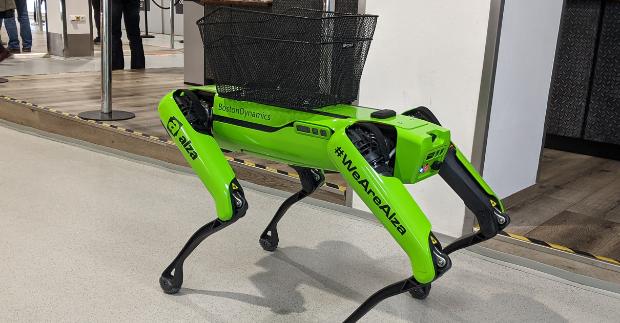 Robotický pes bude v Alze pomáhat i v logistice