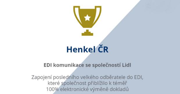 Firma Henkel získala cenu EDIZone.cz 2020 za projekt elektronizace dokladů s Lidlem