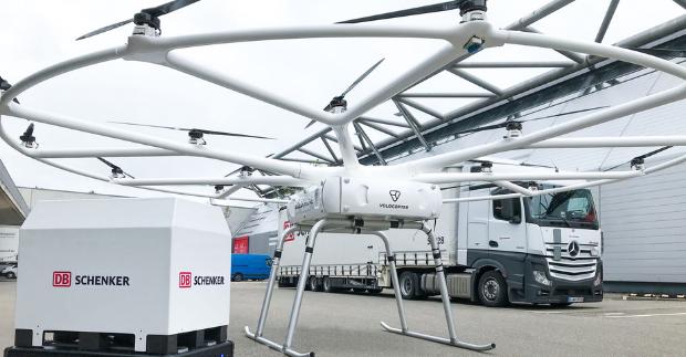 DB Schenker a Volocopter představují první plán na provoz VoloDronu
